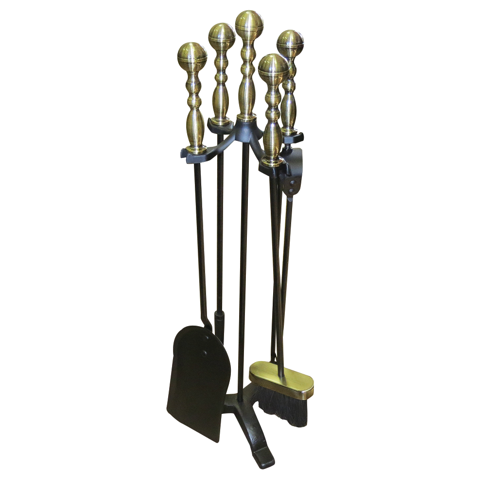 boone hearth antique handle fireplace tool set u2013 brass handles